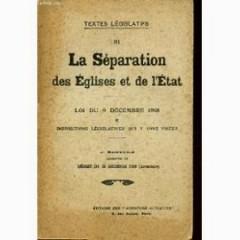 TEXTES LEGISLATIFS DE LA SEPARATION DES EGLISES ET DE L'ETAT – Loi du 4 décembre 1903