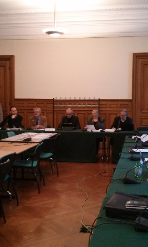 De gauche à droite : Régis CORTESERO, Serge FRAYSSE, Pascal NICOLLE, Georges FOTINOS et Etienne BUTZBACH