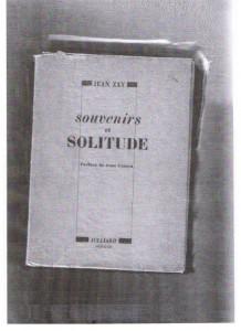 SOUVENIRS ET SOLITUDE - JEAN ZAY