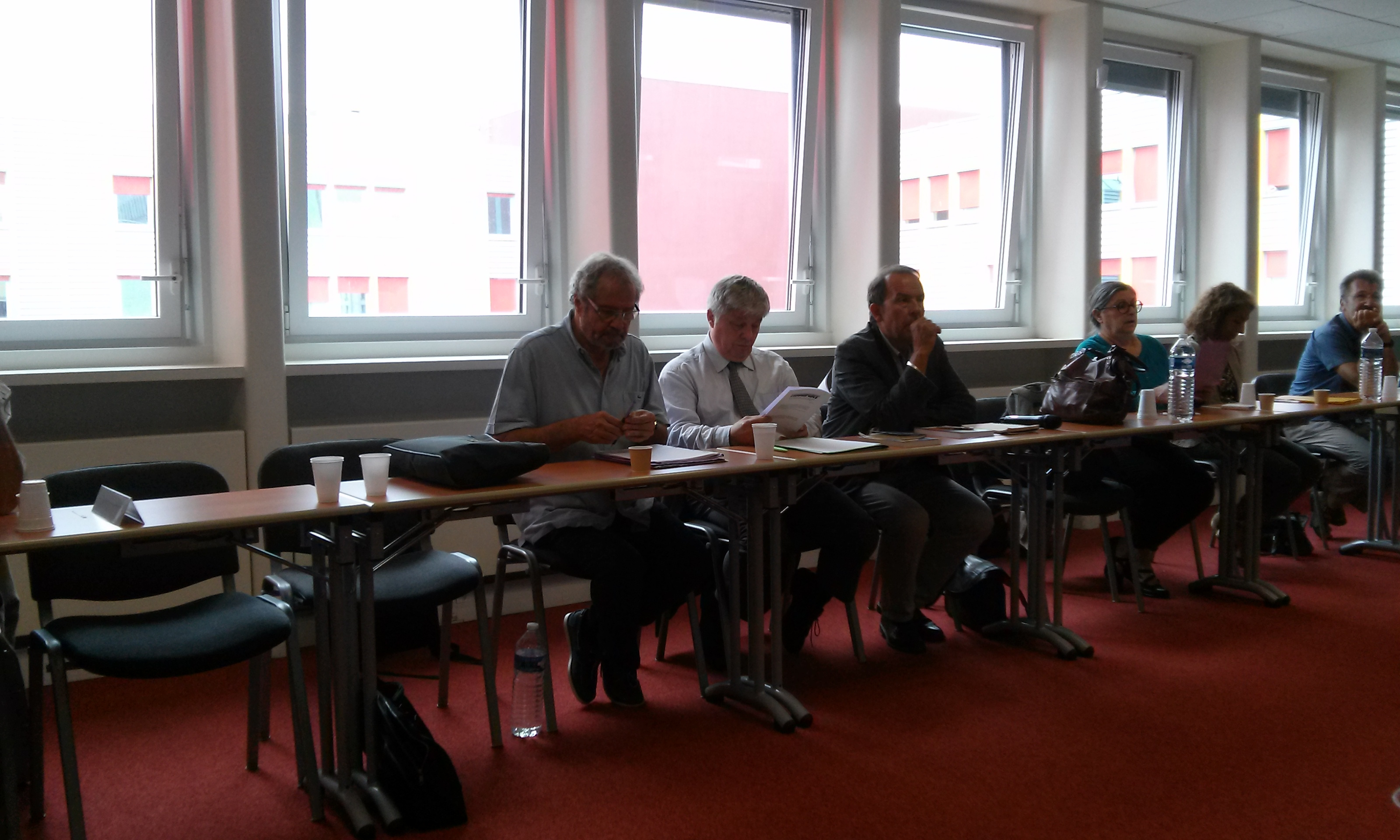 Alain BOLLON, Jean-Pierre VILLAIN, Frédéric JESU, Claire LECONTE, Madga BENDJILALI, Jean-Charles BIECHLE