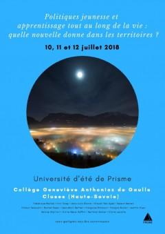 UNIVERSITÉ D'ÉTÉ PRISME CLUSES 2018